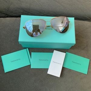 Authentic Tiffany & Co Aviator Return 2 Sunglasses